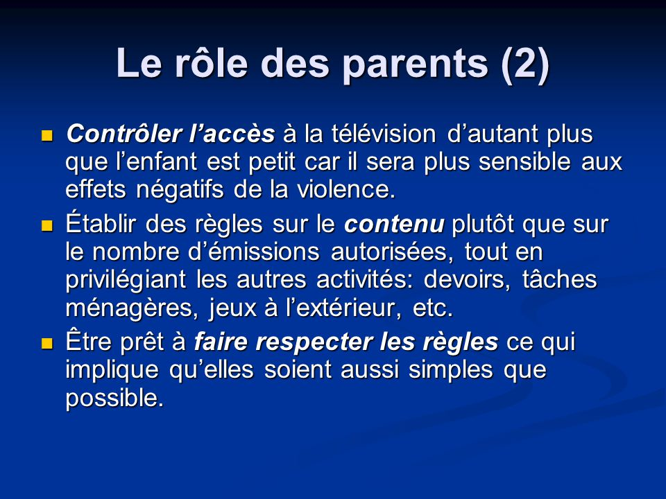 Le rôle des parents (2)