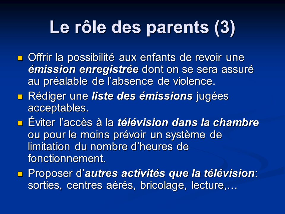 Le rôle des parents (3)
