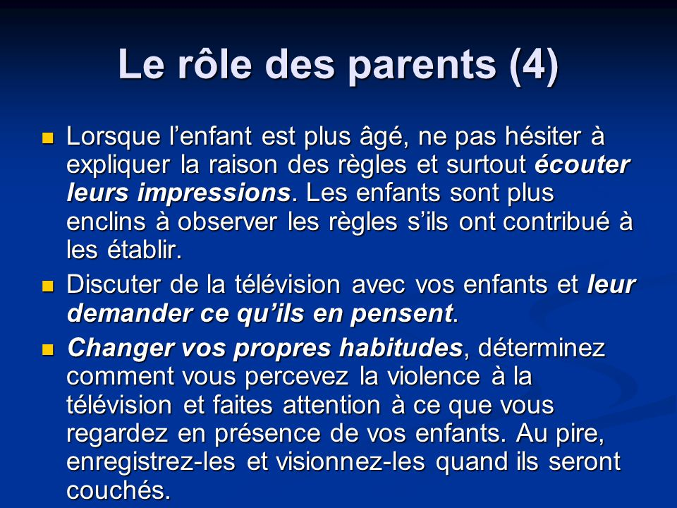 Le rôle des parents (4)