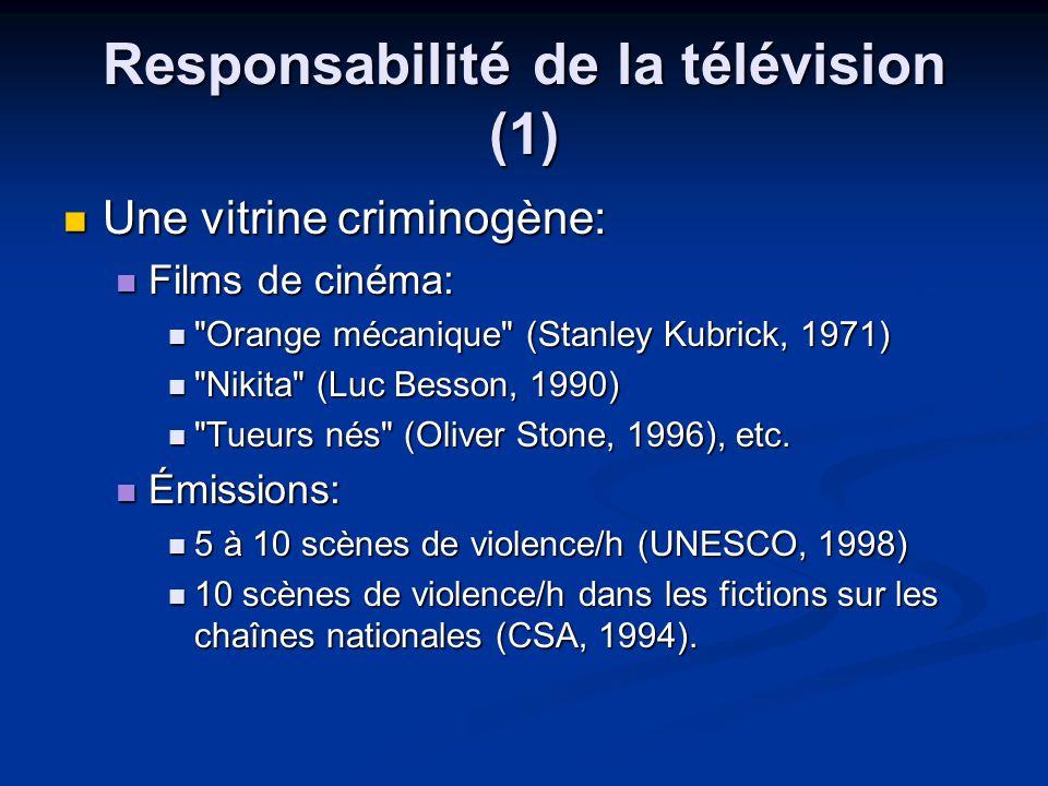 Responsabilité de la télévision (1)