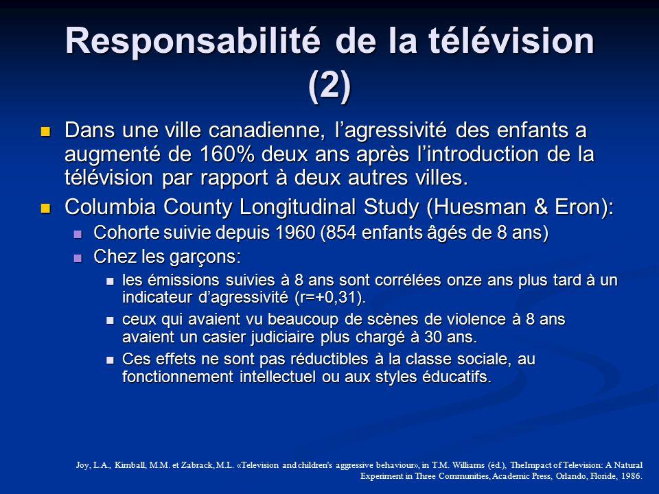 Responsabilité de la télévision (2)