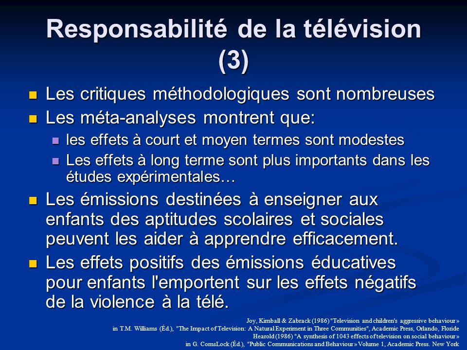 Responsabilité de la télévision (3)