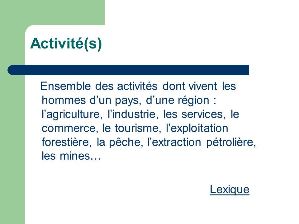Activité(s)