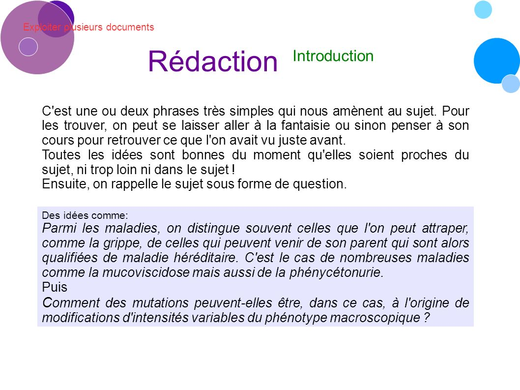 Rédaction Introduction