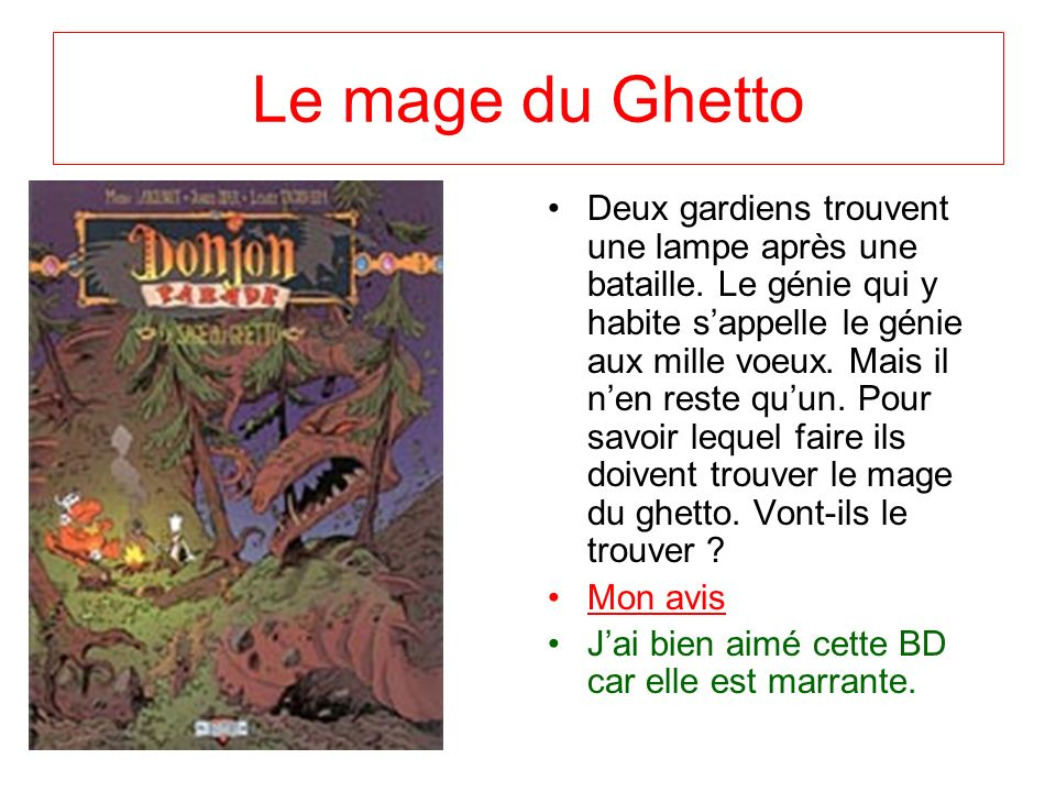 Le mage du Ghetto