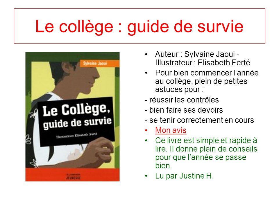 Le collège : guide de survie
