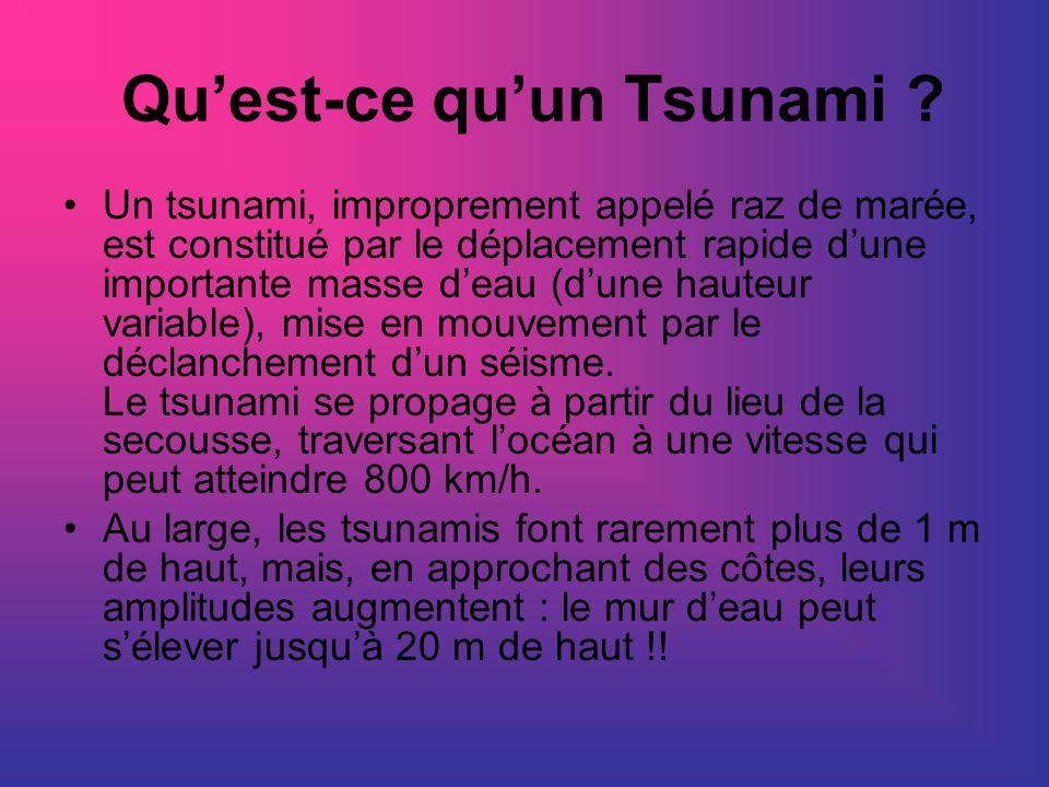 Qu'est-ce qu'un Tsunami