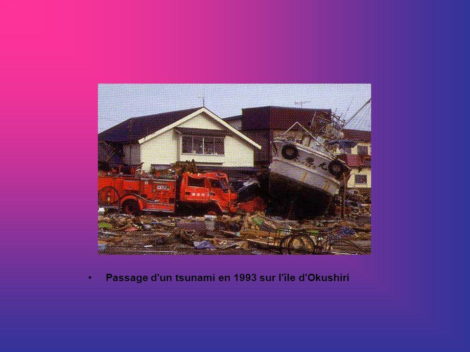 Passage d un tsunami en 1993 sur l île d Okushiri
