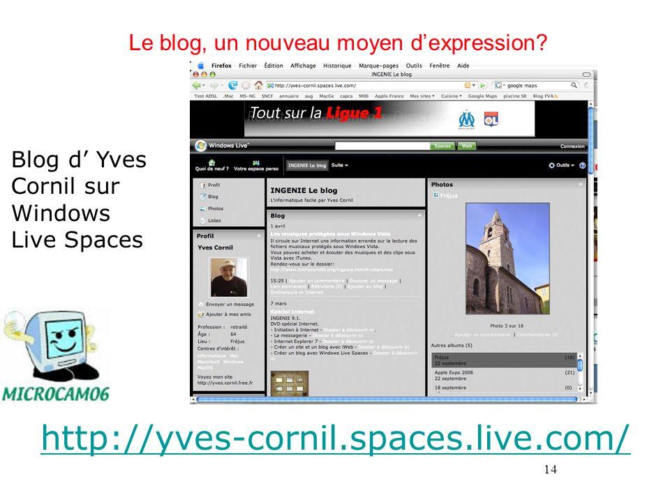Le blog, un nouveau moyen d'expression