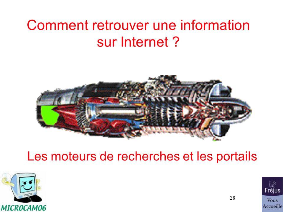 Comment retrouver une information sur Internet