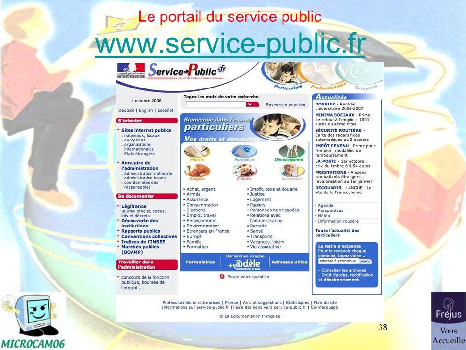 Le portail du service public www.service-public.fr