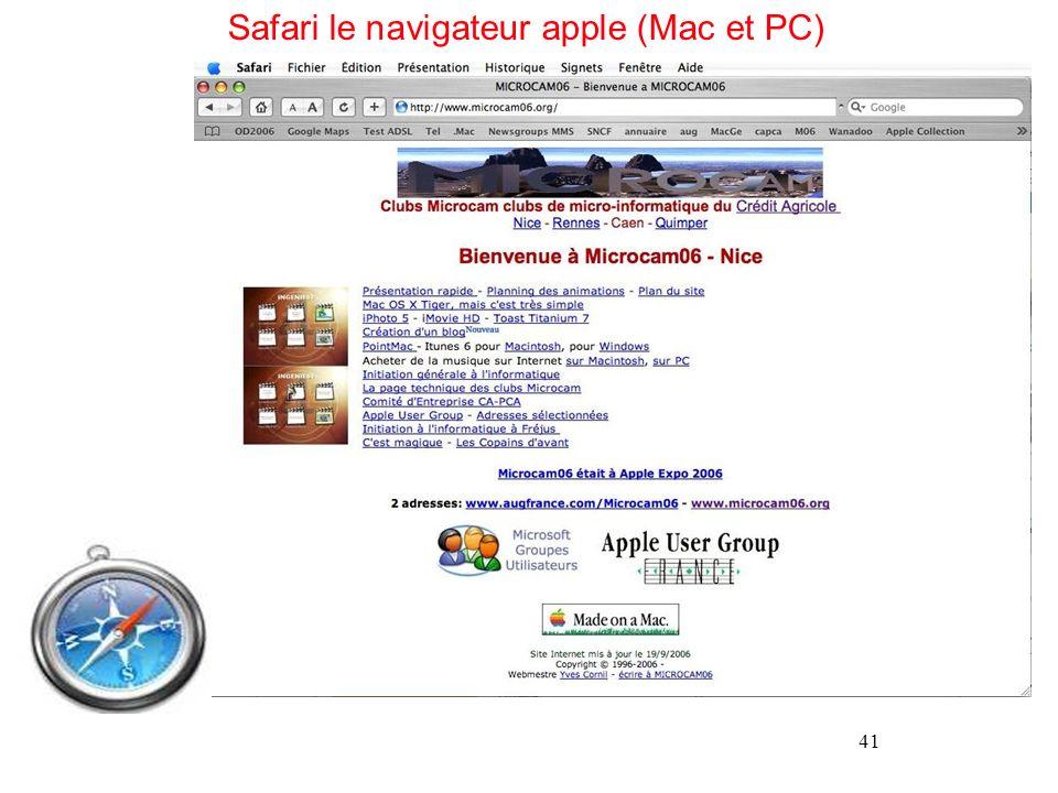 Safari le navigateur apple (Mac et PC)