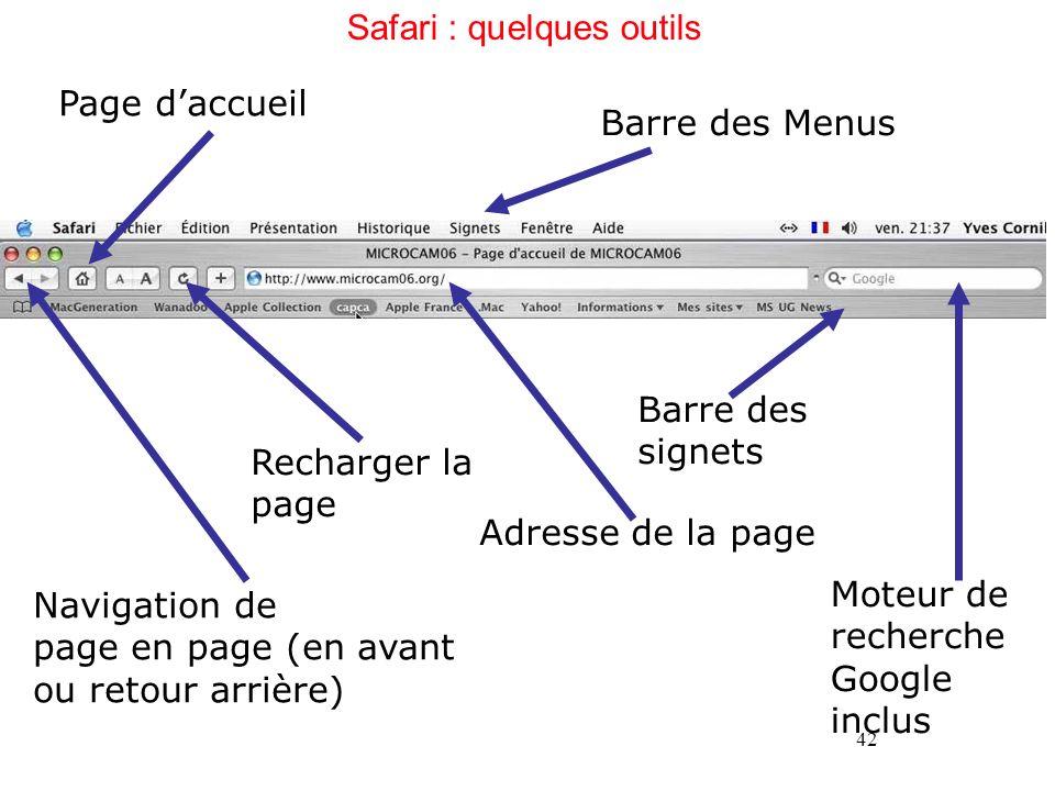 Safari : quelques outils