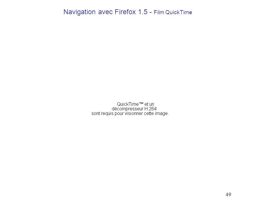 Navigation avec Firefox 1.5 - Film QuickTime