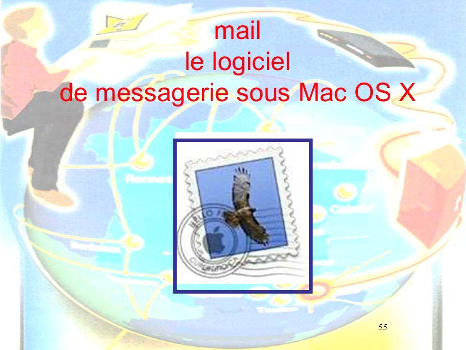mail le logiciel de messagerie sous Mac OS X