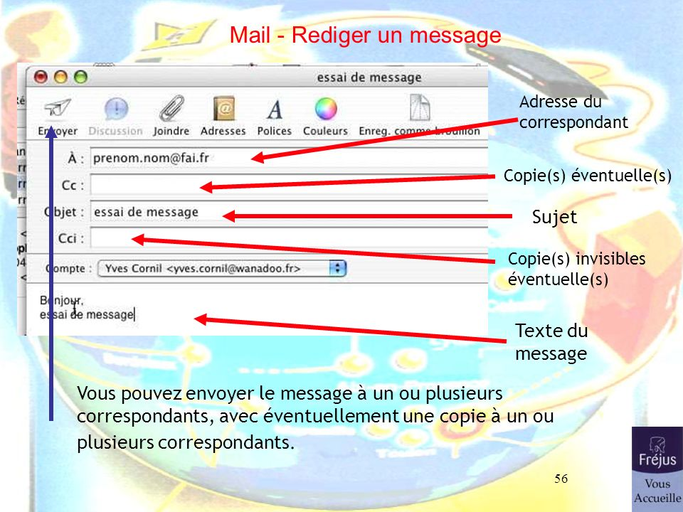 Mail - Rediger un message