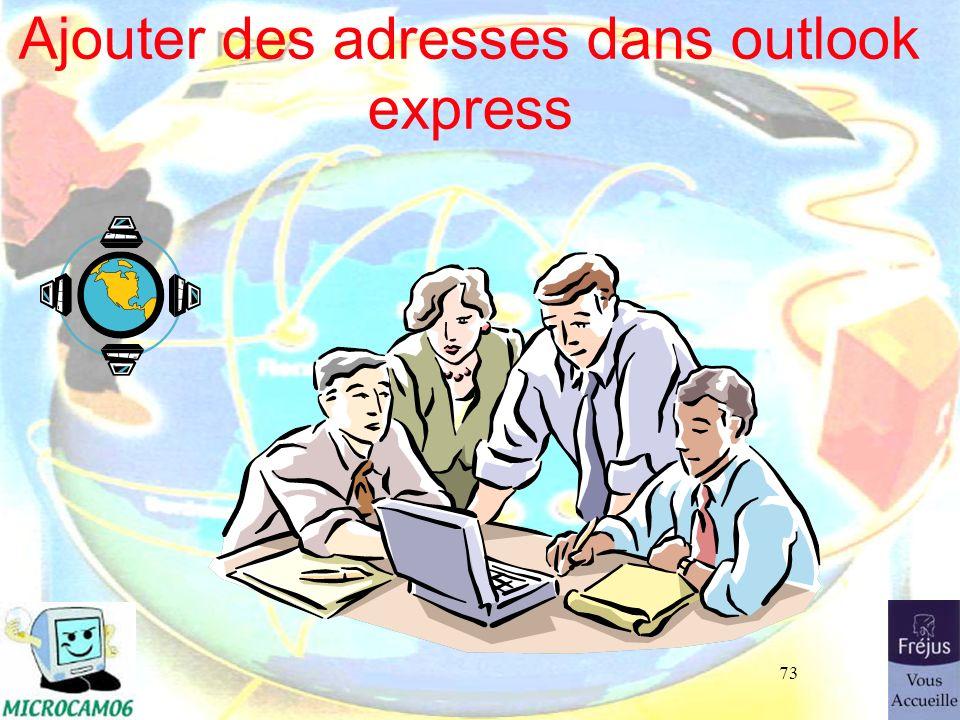 Ajouter des adresses dans outlook express