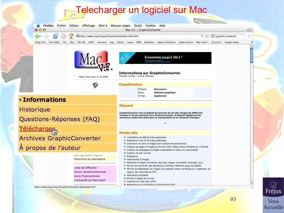 Telecharger un logiciel sur Mac