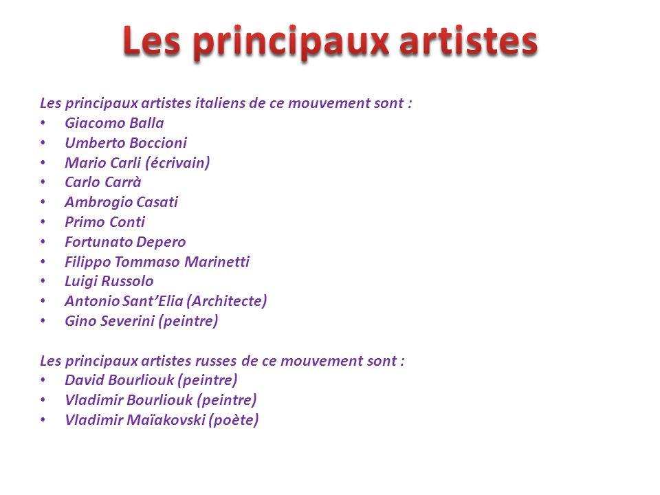 Les principaux artistes
