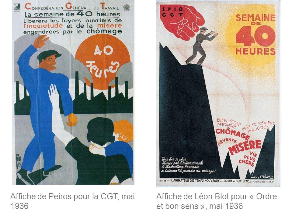 Affiche de Peiros pour la CGT, mai 1936