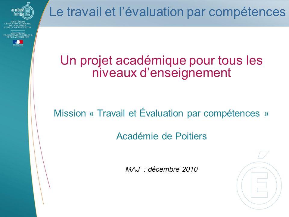 Le travail et l'évaluation par compétences