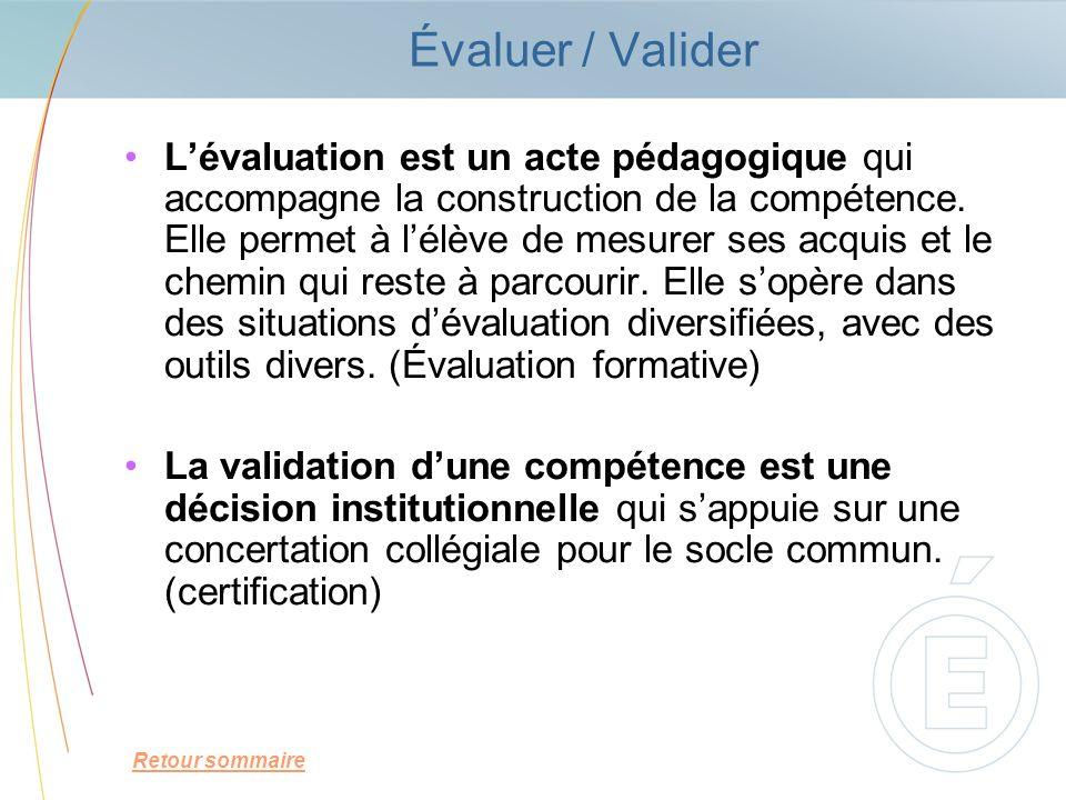 Évaluer / Valider