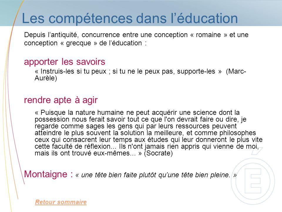 Les compétences dans l'éducation