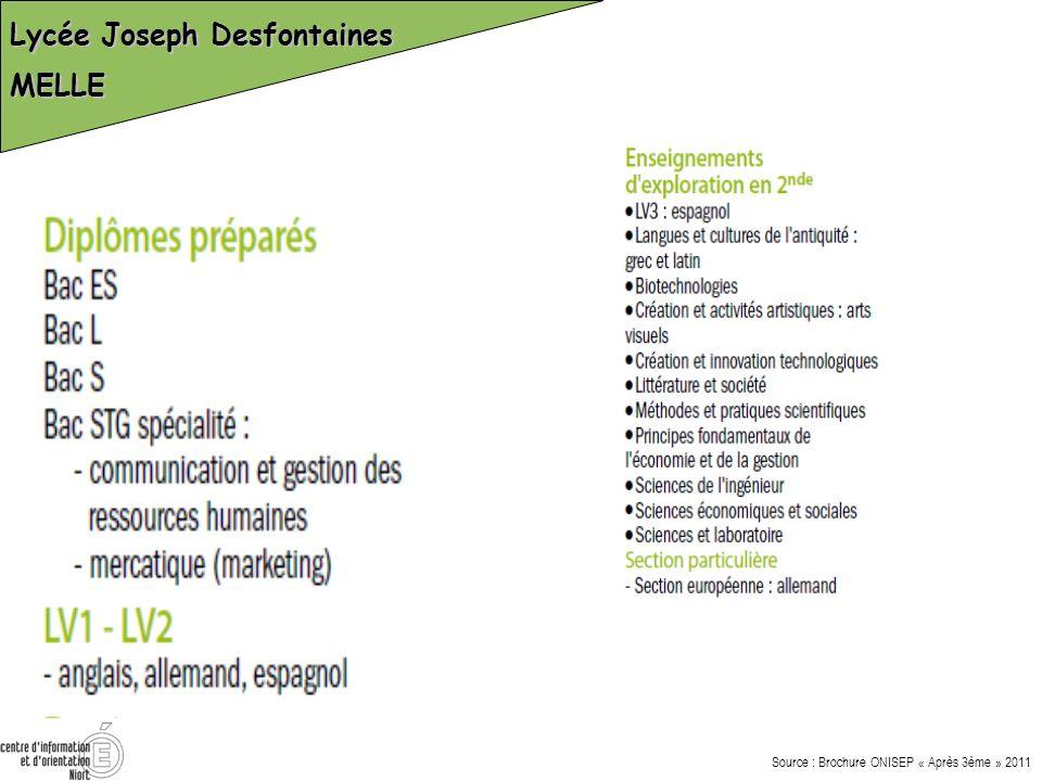 Lycée Joseph Desfontaines MELLE