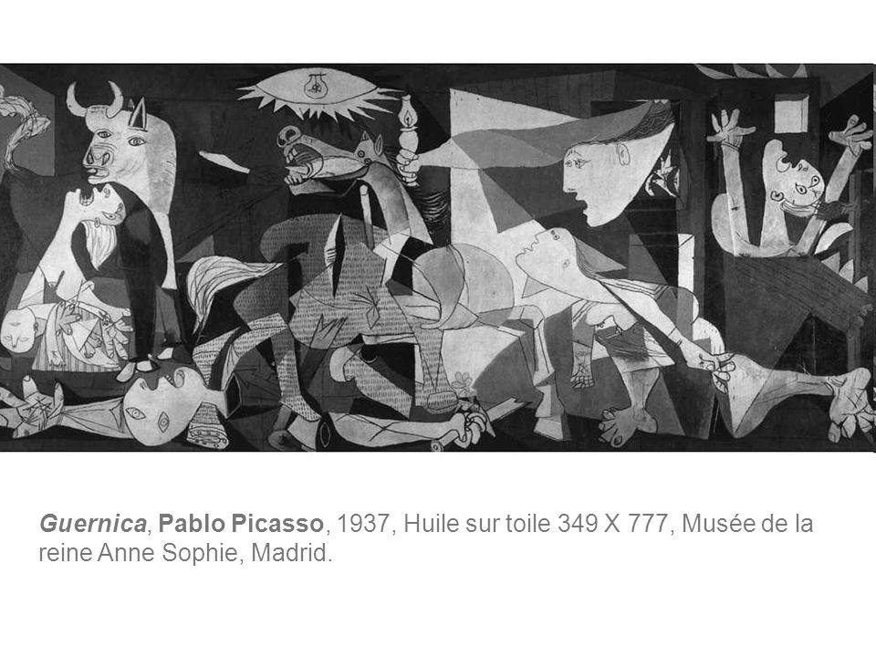 Guernica, Pablo Picasso, 1937, Huile sur toile 349 X 777, Musée de la reine Anne Sophie, Madrid.