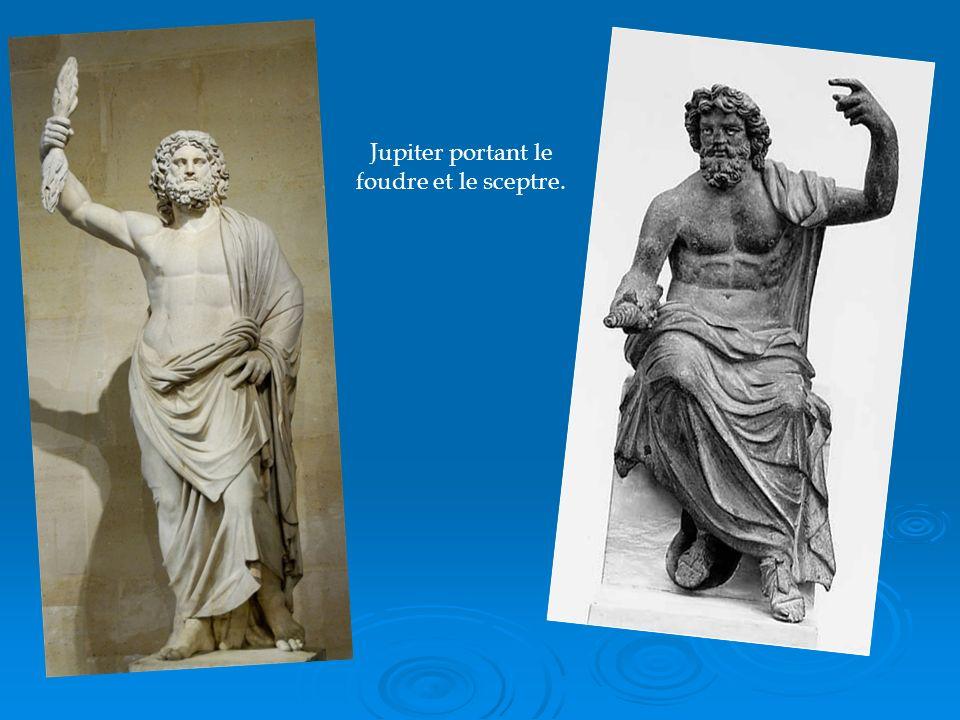 Jupiter portant le foudre et le sceptre.