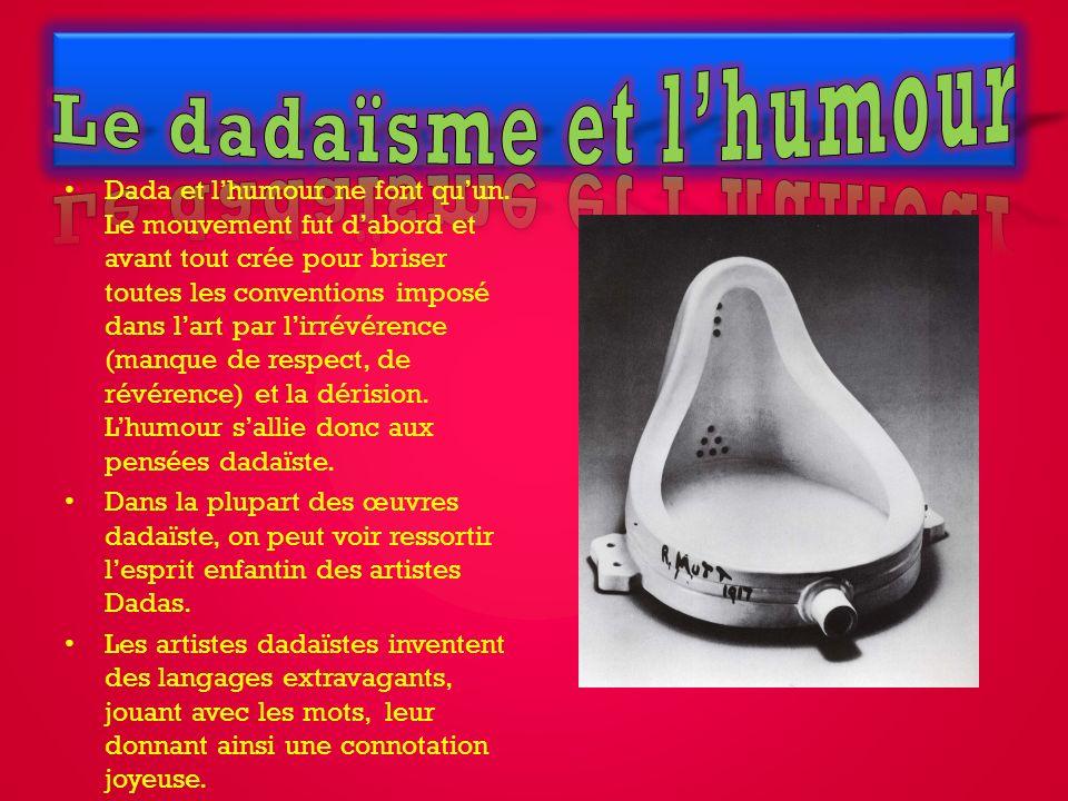 Le dadaïsme et l'humour
