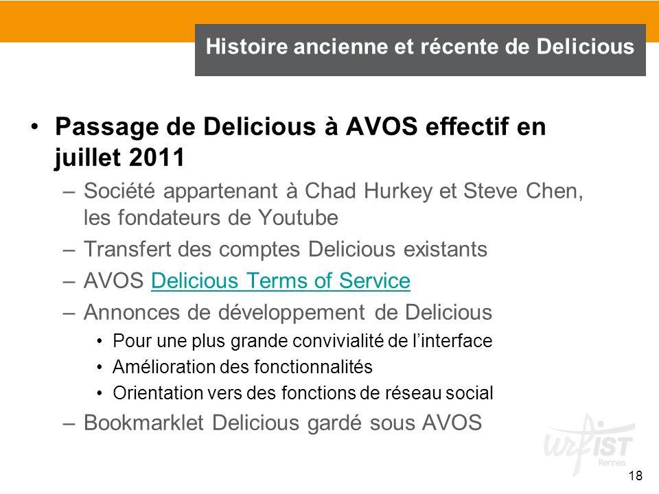 Histoire ancienne et récente de Delicious