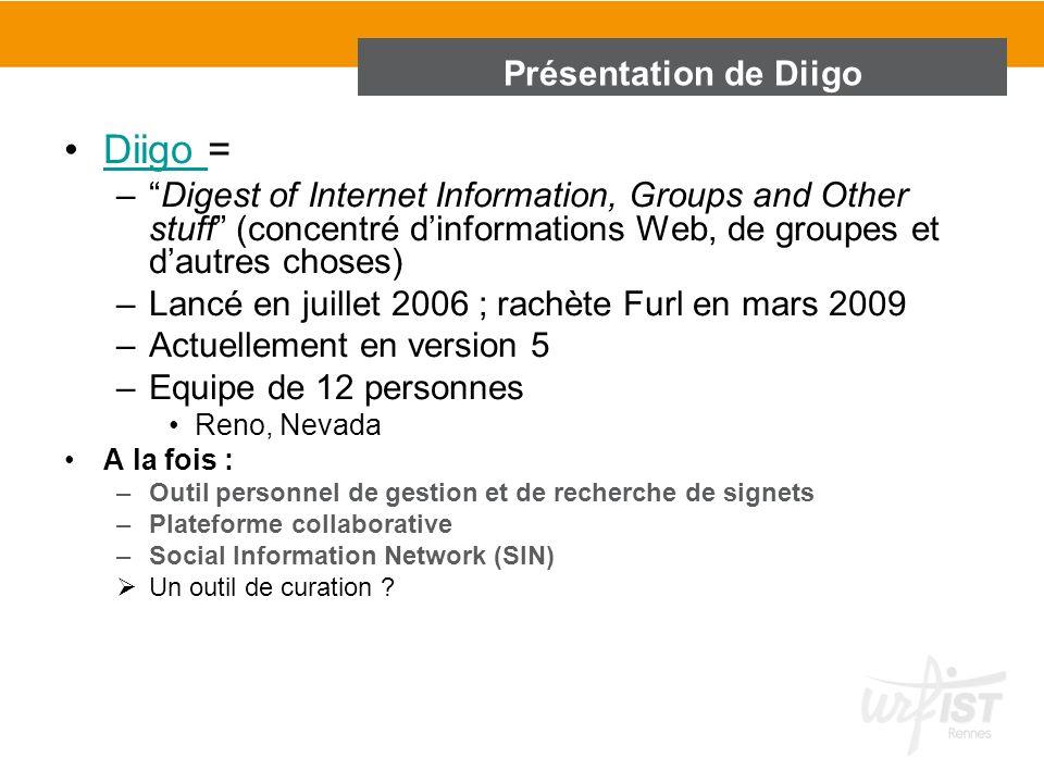 Diigo = Présentation de Diigo
