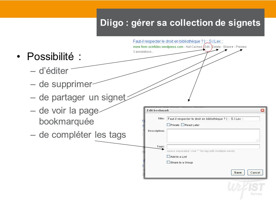 Diigo : gérer sa collection de signets