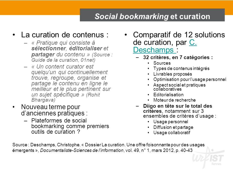Social bookmarking et curation