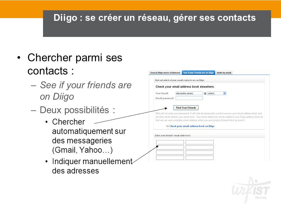 Diigo : se créer un réseau, gérer ses contacts