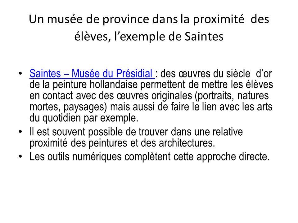 Un musée de province dans la proximité des élèves, l'exemple de Saintes