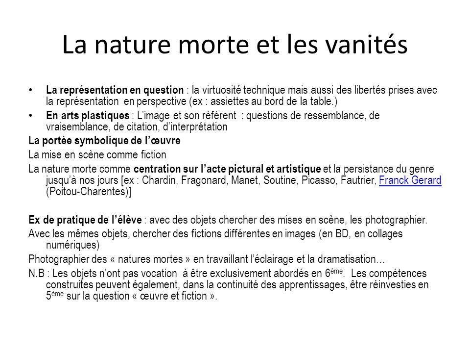 La nature morte et les vanités
