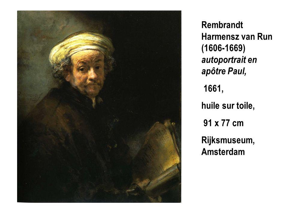 Rembrandt Harmensz van Run (1606-1669) autoportrait en apôtre Paul,