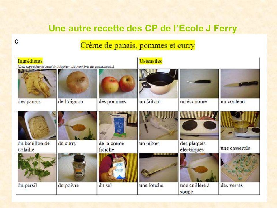Une autre recette des CP de l'Ecole J Ferry