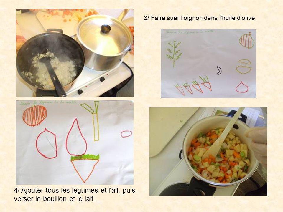 3/ Faire suer l oignon dans l huile d olive.