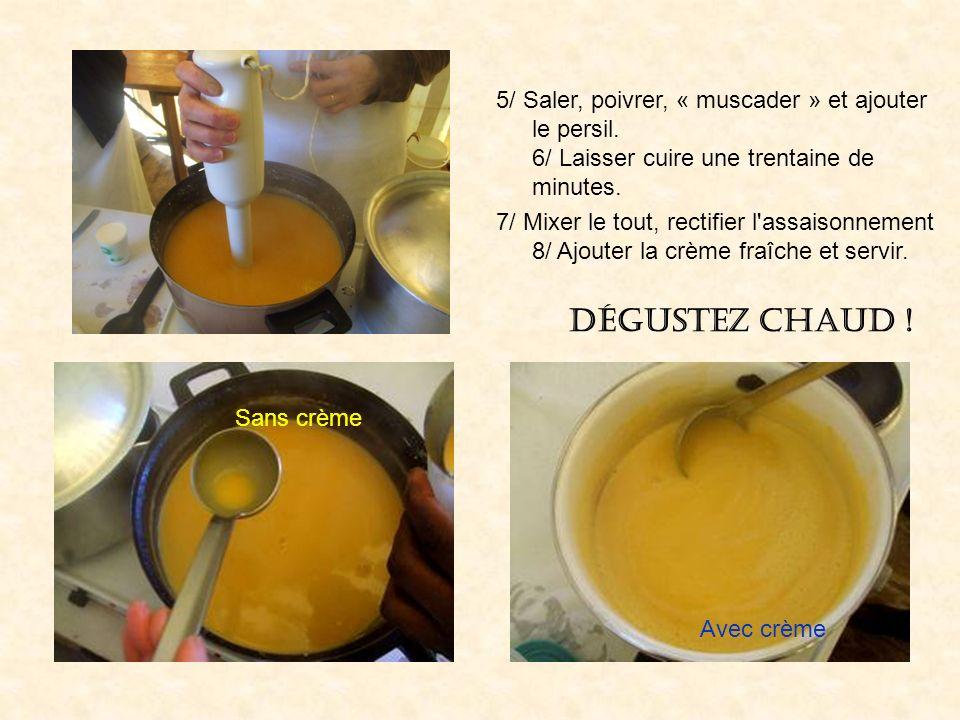 5/ Saler, poivrer, « muscader » et ajouter le persil