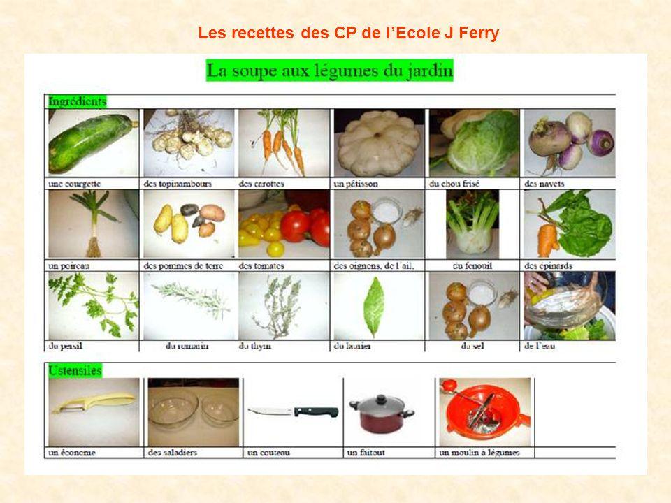 Les recettes des CP de l'Ecole J Ferry