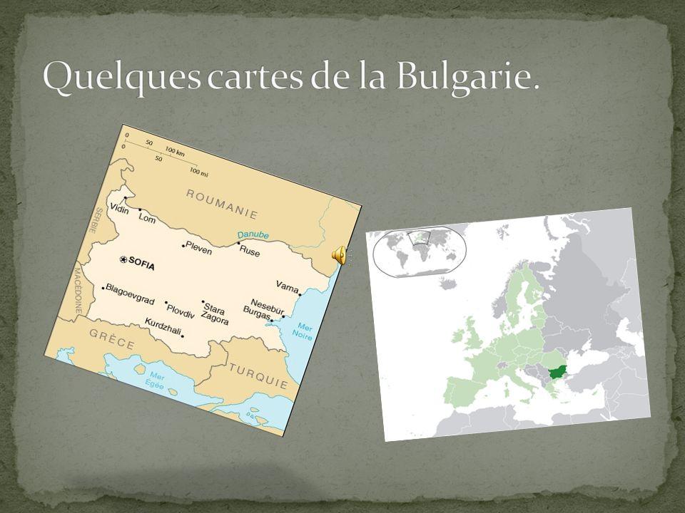 Quelques cartes de la Bulgarie.