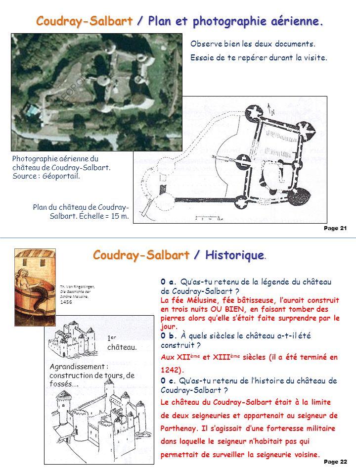 Coudray-Salbart / Plan et photographie aérienne.