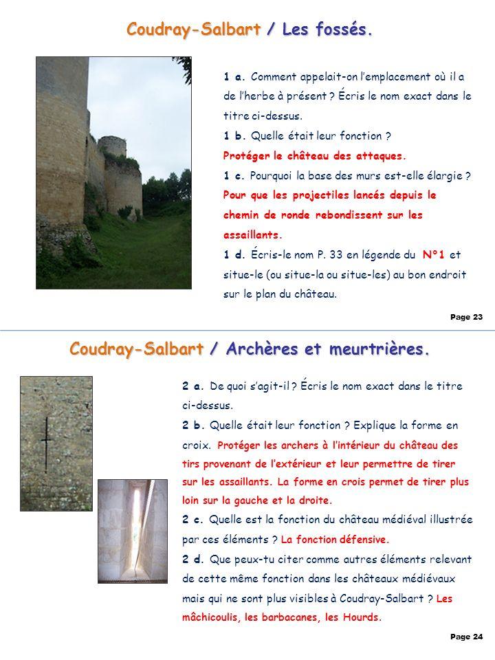 Coudray-Salbart / Les fossés.
