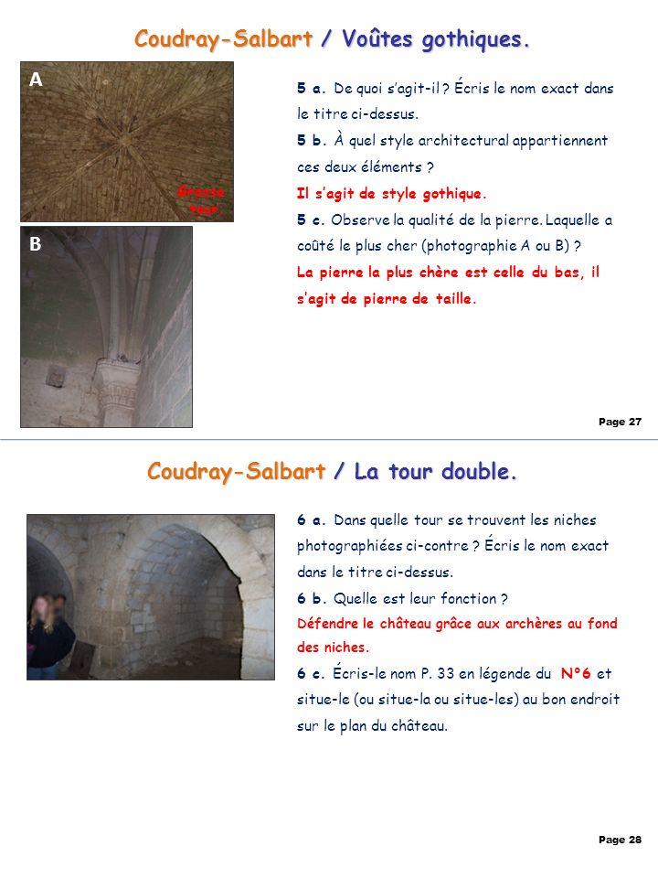 Coudray-Salbart / Voûtes gothiques. Coudray-Salbart / La tour double.