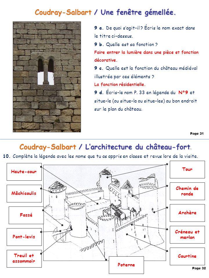 Coudray-Salbart / Une fenêtre gémellée.