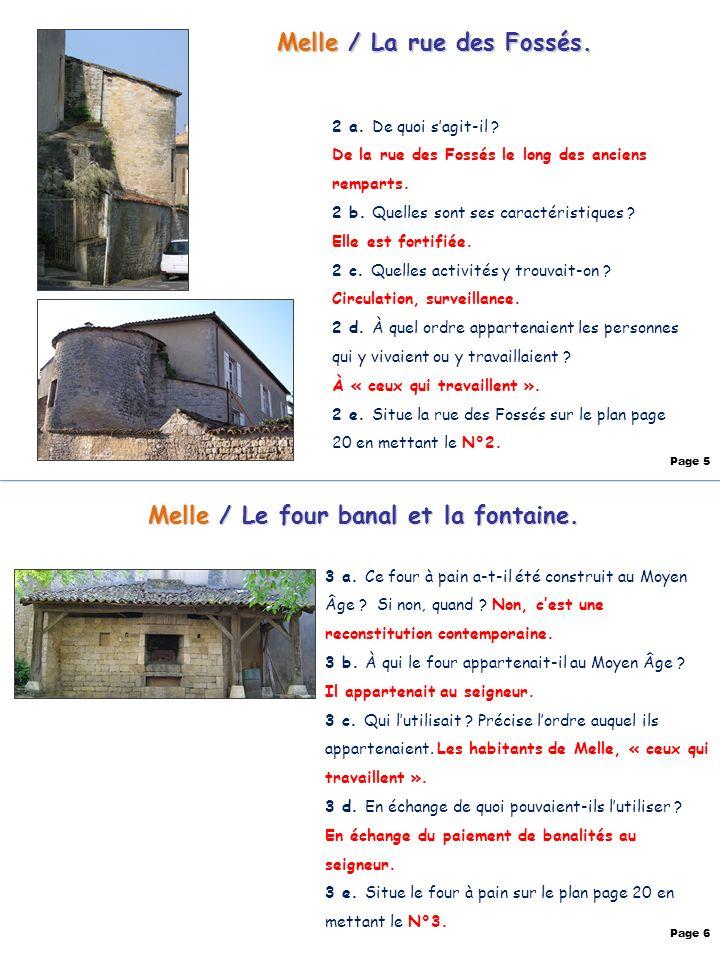 Melle / La rue des Fossés. Melle / Le four banal et la fontaine.