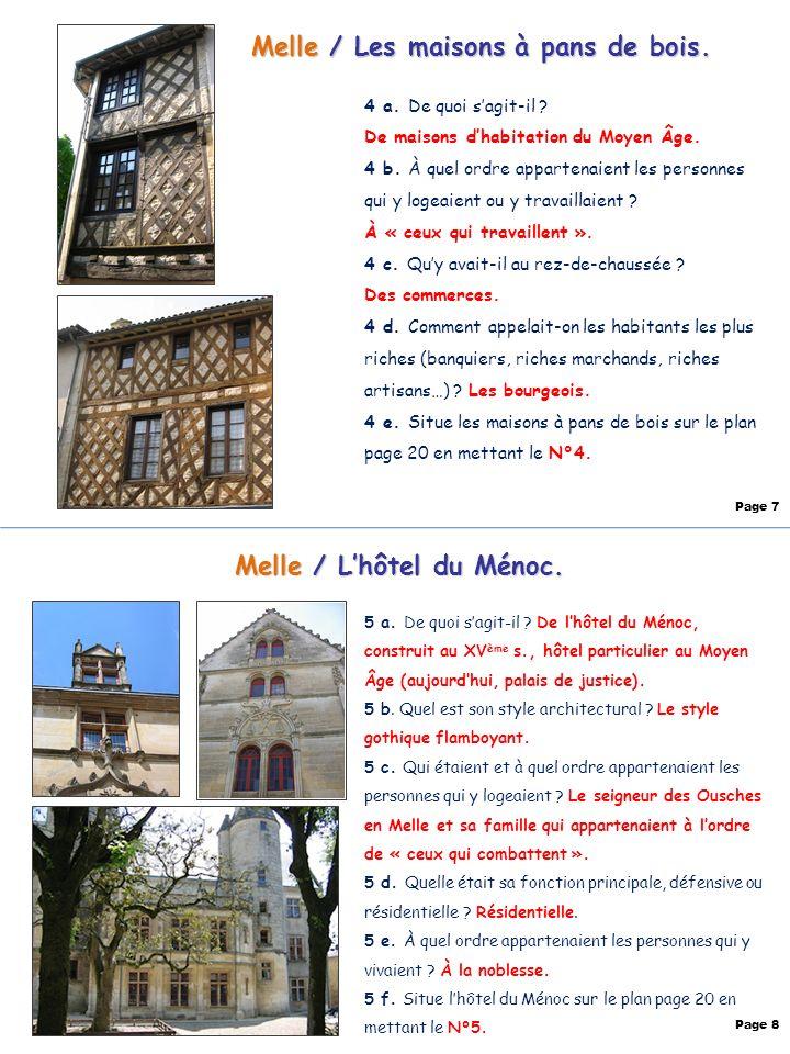 Melle / Les maisons à pans de bois. Melle / L'hôtel du Ménoc.